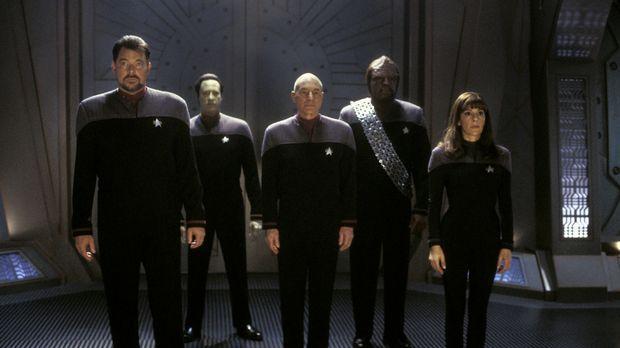 Eine neue Mission wartet auf Captain Jean-Luc Picard (Patrick Stewart, M.), C...