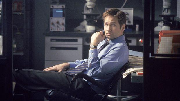 Mulder (David Duchovny) macht Doggeett auf den Tod eines mexikanischen Arbeit...