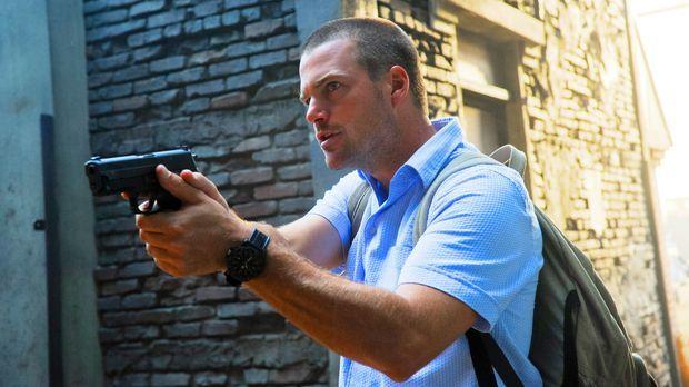 Bei den Ermittlungen in einem neuen Fall: Callen (Chris O'Donnell) ... © CBS...