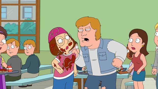 Mike Pulaski (M.r.) ist neu an der Schule und macht es Meg (M.l.) nicht leich...