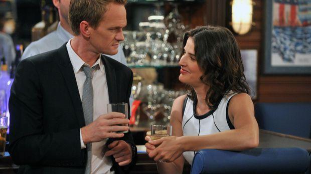 Kurz vor der Hochzeit setzen sich Barney (Neil Patrick Harris, l.) und Robin...