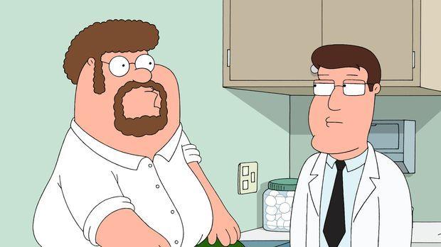 Um zusätzlich etwas Geld zu verdienen, stellt sich Peter (l.) als Versuchskan...