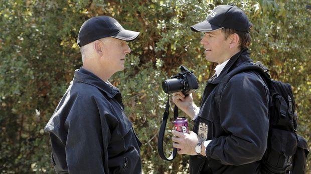 Ermitteln in einem neuen Mordfall: Tony (Michael Weatherly, r.) und Gibbs (Ma...