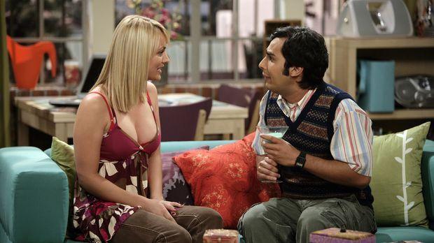 Damit sich Raj (Kunal Nayyar, r.) ungezwungen mit seiner zukünftigen Frau Lal...