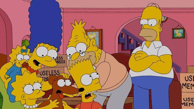 Die Simpsons - Während Marge (2.v.l.), Maggie (l.), Lisa (3.v.l.) und Bart (3...