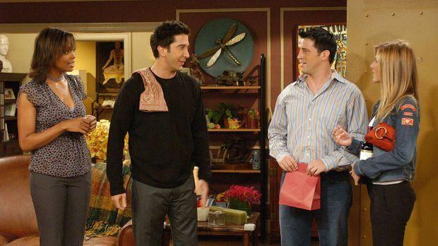 Eine angespannte Situation: Joey (Matt LeBlanc, 2.v.r.), Rachel (Jennifer Ani...