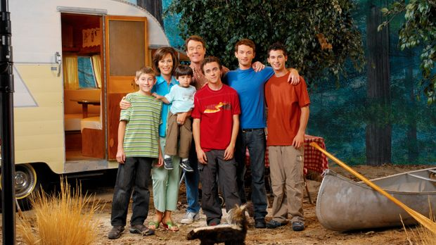 (7. Staffel) - So friedlich beisammen ist die Familie nur selten: Vater Hal (...