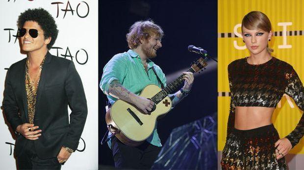 Taylor Swift und Ed Sheeran sind für einige Preise bei den GRAMMYS 2016 nomin...