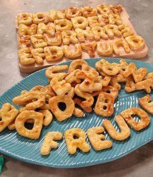 Buchstaben-Kartoffelkekse