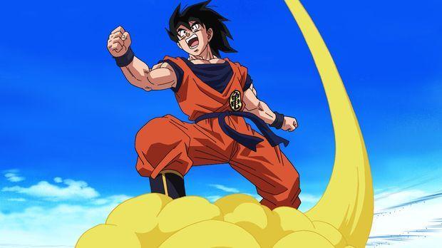 Eigentlich hat sich Son Goku mit seiner Frau Chichi und Sohn Son Gohan auf da...