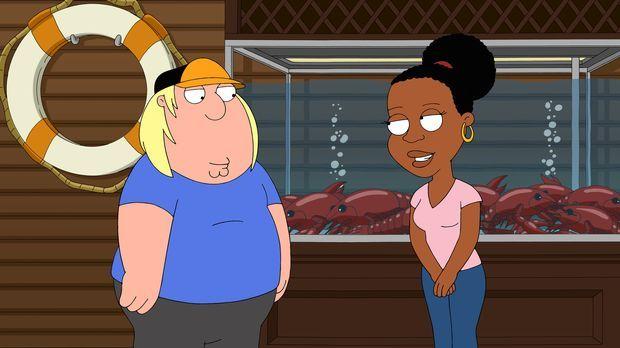 Chris (l.) verliebt sich in die Tochter des dunkelhäutigen Barbesitzers Jerom...
