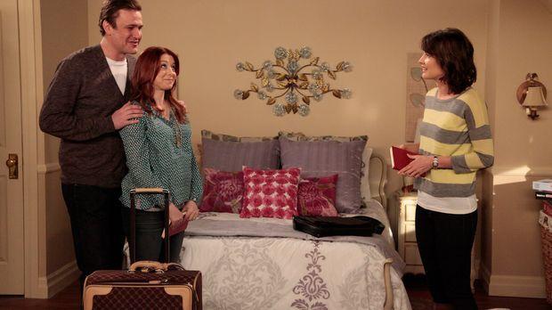 Nach ihrem Auszug aus Teds Wohnung ist Robin (Cobie Smulders, r.) bei Marshal...