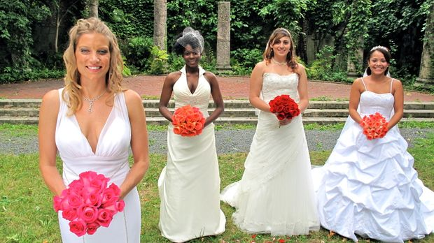Wer feiert die perfekte Hochzeit? (v.l.n.r.) Kati, Tara, Editza oder Alana? ©...