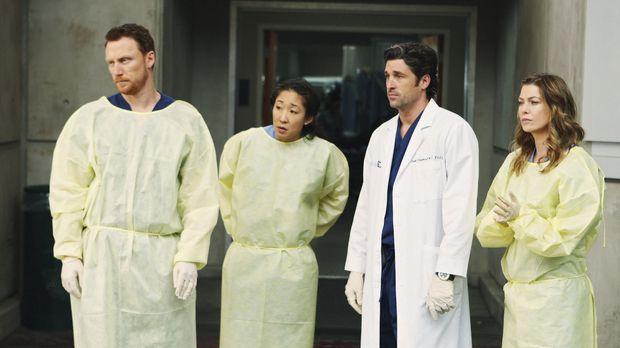 Im Seattle Grace ist einiges los: Während Cristina (Sandra Oh, 2.v.l.) und Me...