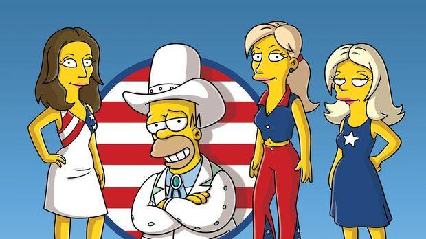 Homer (2.v.l.) und die Dixie Chicks ... © und TM Twentieth Century Fox Film C...