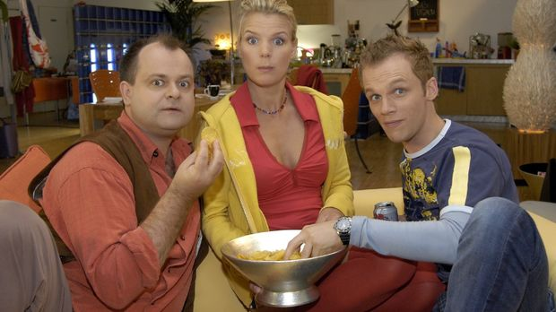 Deutschlands witzigste Comedy-WG: (v.l.n.r.) Markus Majowski, Mirja Boes und...