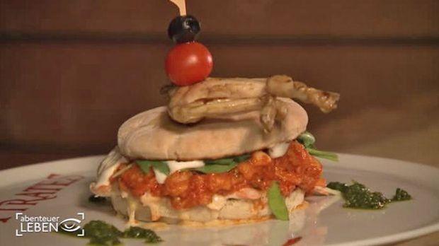 Froschschenkel-Burger